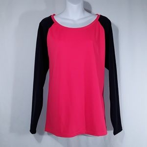 torrid Tops - NWT Torrid Neon Red and Black Raglan Swim Material
